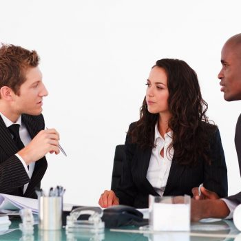 business people discussing in an office